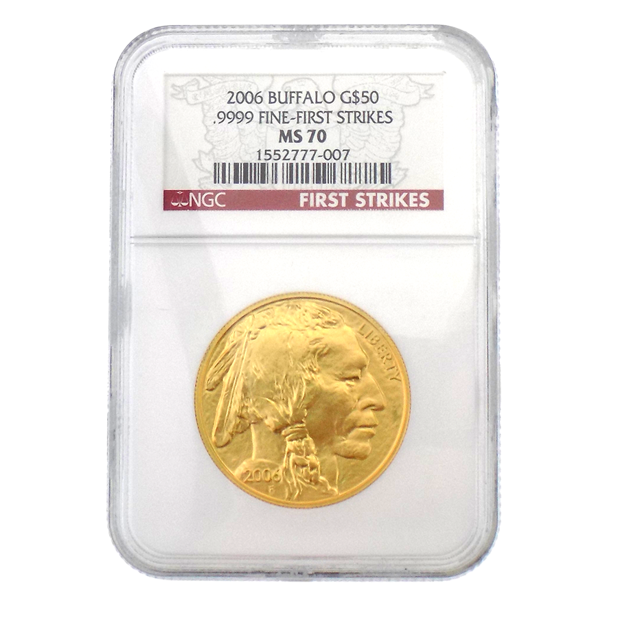 Pre-Owned 2006 USA Buffalo 1oz Gold Coin NGC Graded MS 70 - 1552777-007