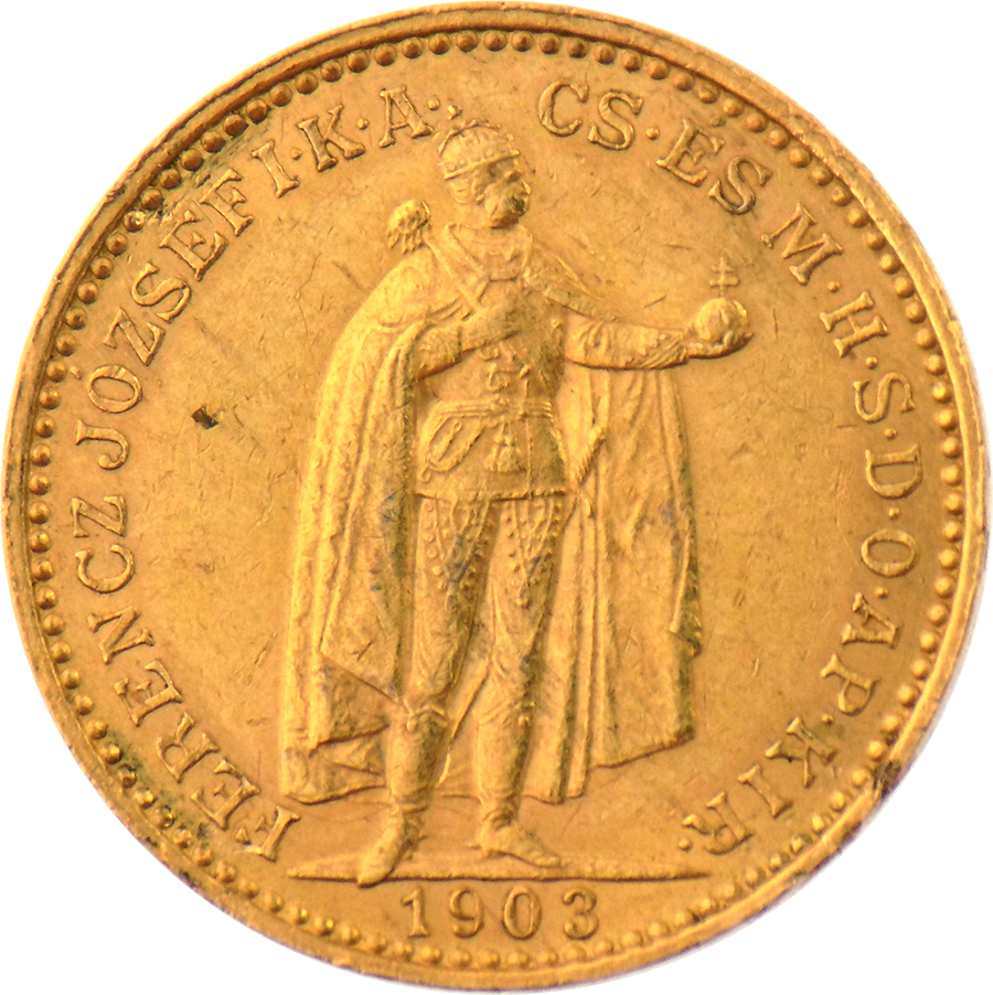 Pre-Owned 1903 Hungary 20 Korona Gold Coin