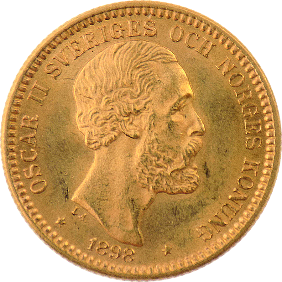 Pre-Owned 1898 Sweden 20 Kronor Gold Coin