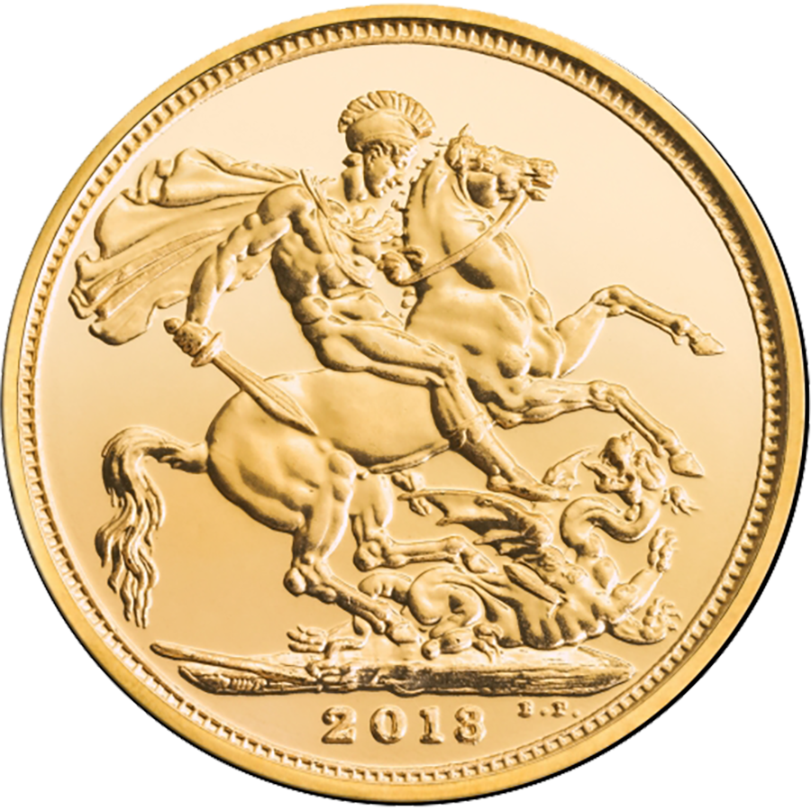 Pre-Owned 2013 UK Full Sovereign Gold Coin (Image 2)