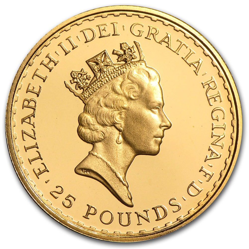 Pre-Owned UK Britannia 1/4oz Gold Coin - Mixed Dates (Image 2)