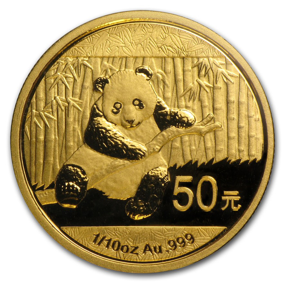 2014 Chinese Panda 1 10oz Gold Coin Free Insured Delivery