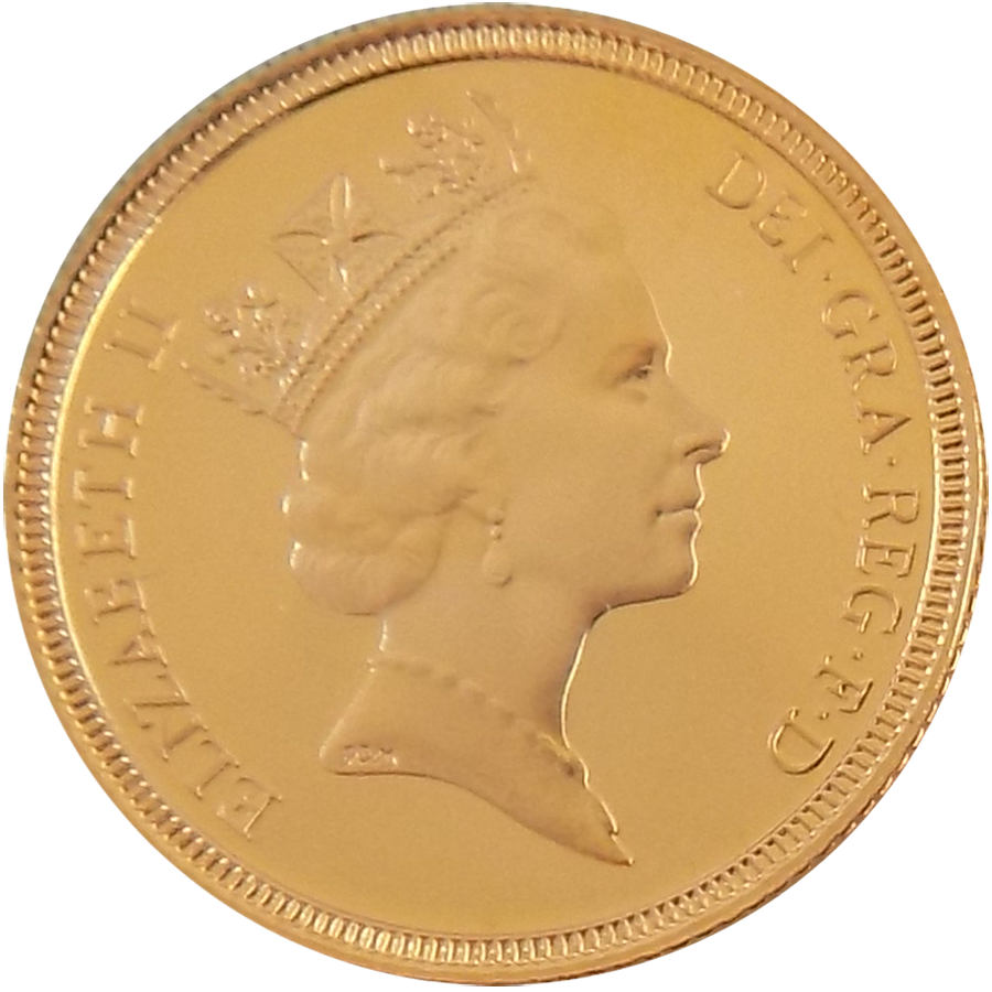Pre-Owned 1987 UK Full Sovereign Proof Design Gold Coin (Image 1)