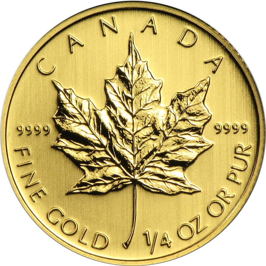 Pre-Owned Canadian Maple 1/4oz Gold Coin - Mixed Dates
