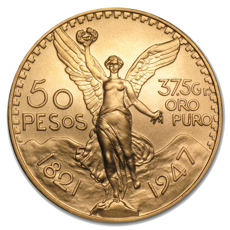 Pre Owned Mexican 50 Peso Gold Coin Free Fully Insured