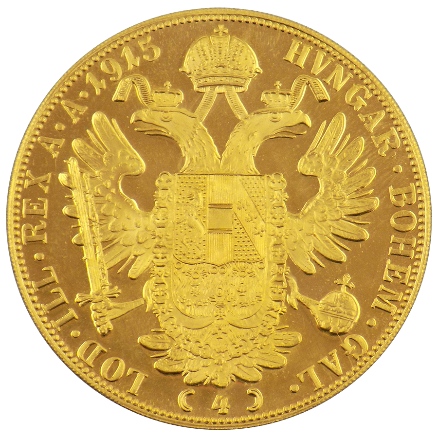 Pre-Owned Austrian 4 Ducat Gold Coin - Mixed Dates