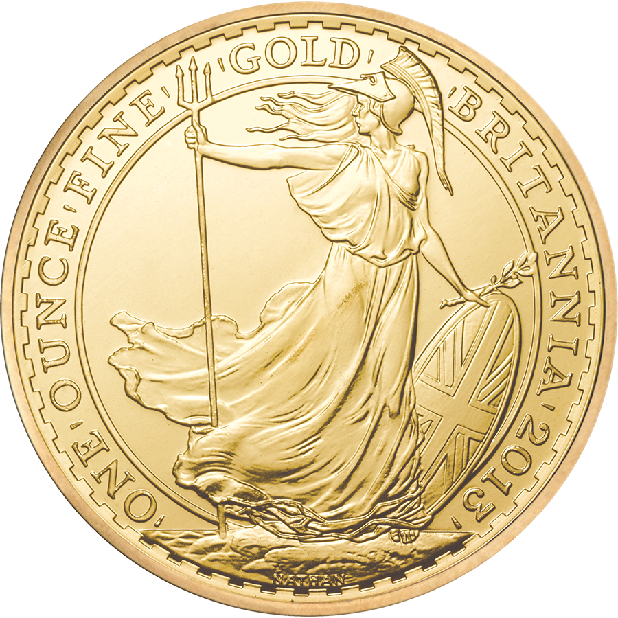 Pre-Owned 2013 UK Britannia 1oz Gold Coin