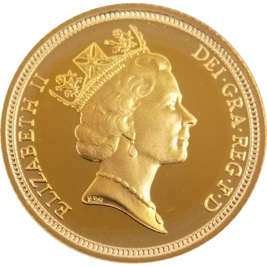1990 Uk Proof Half Sovereign Gold Coin Get Cheap Gold