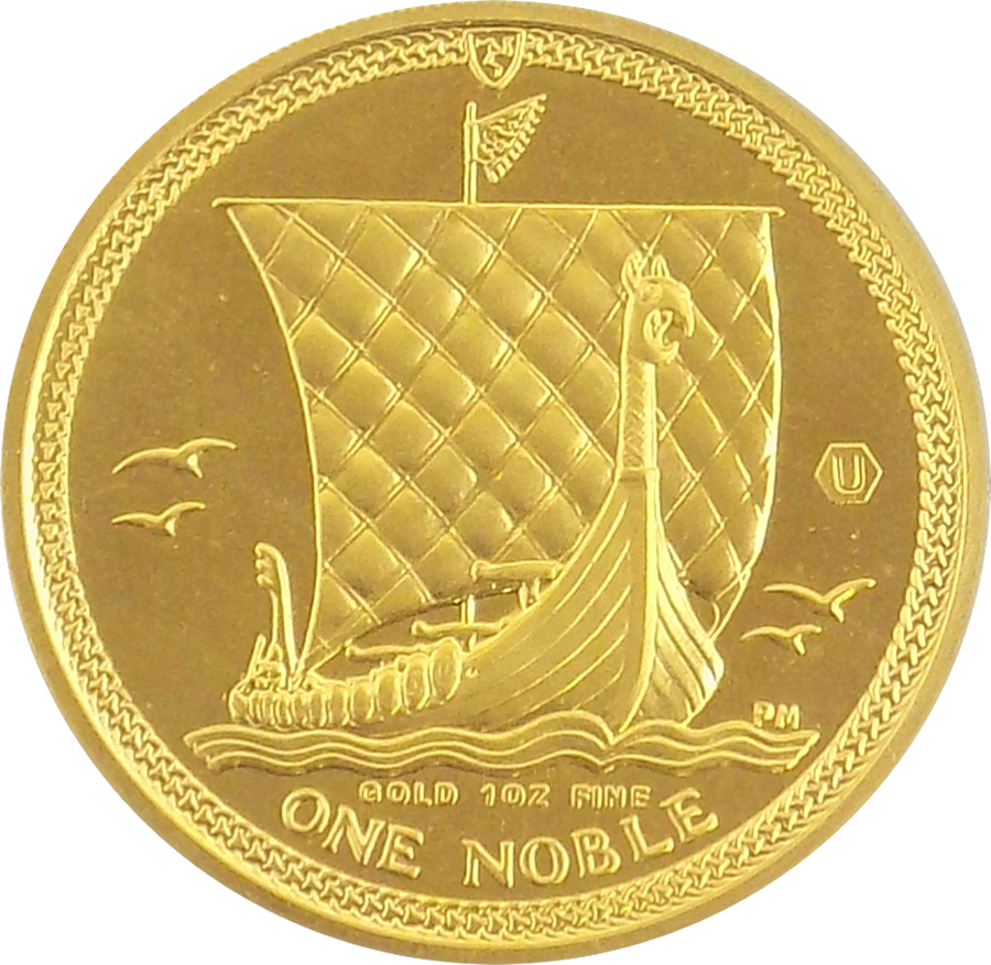 Pre-Owned 2009 Isle of Man Proof Design 1oz Noble Gold Coin