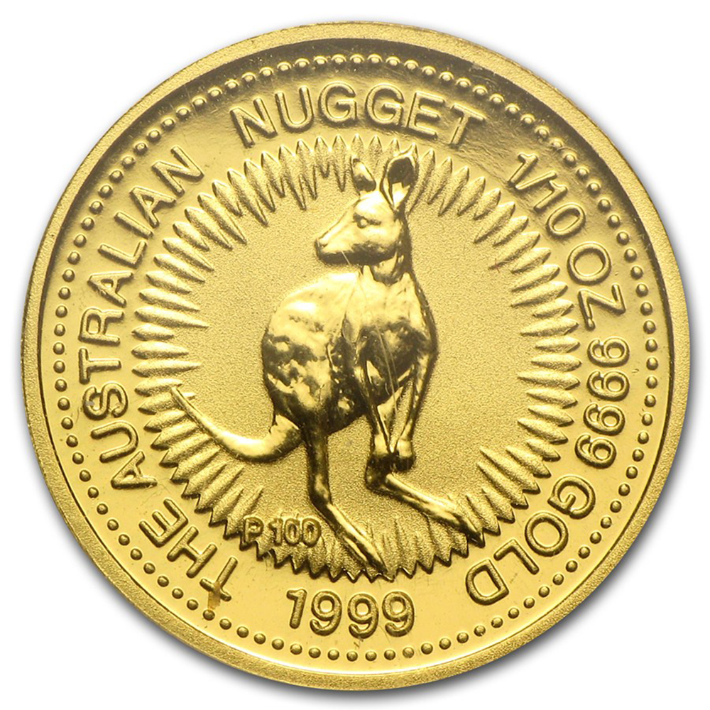Pre-Owned Australian Nugget 1/10oz Gold Coin - Mixed Dates