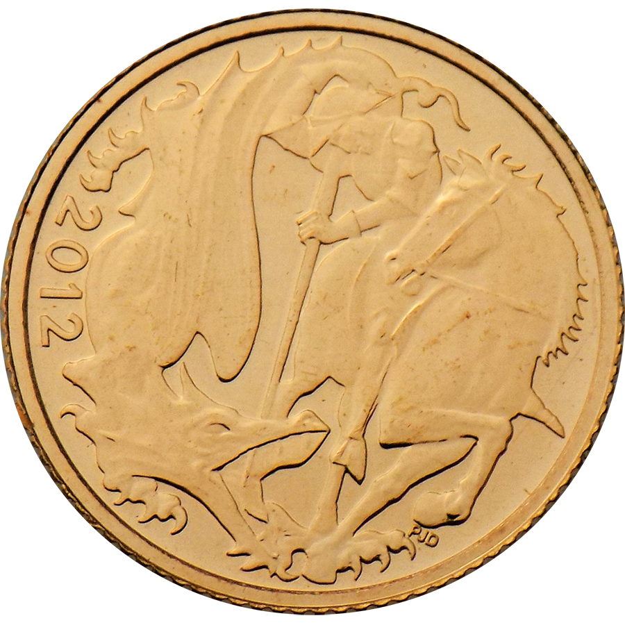 Pre-Owned 2012 UK Half Sovereign Gold Coin