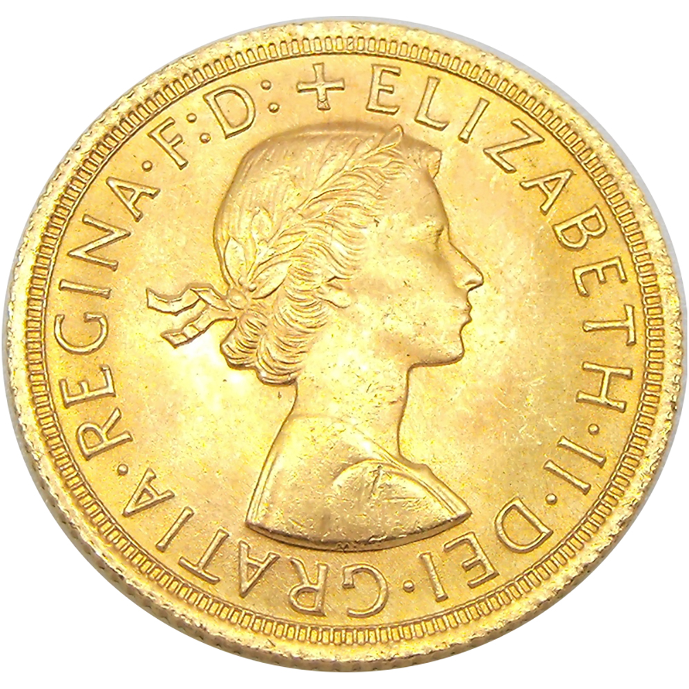 Pre-Owned 1965 UK Full Sovereign Gold Coin