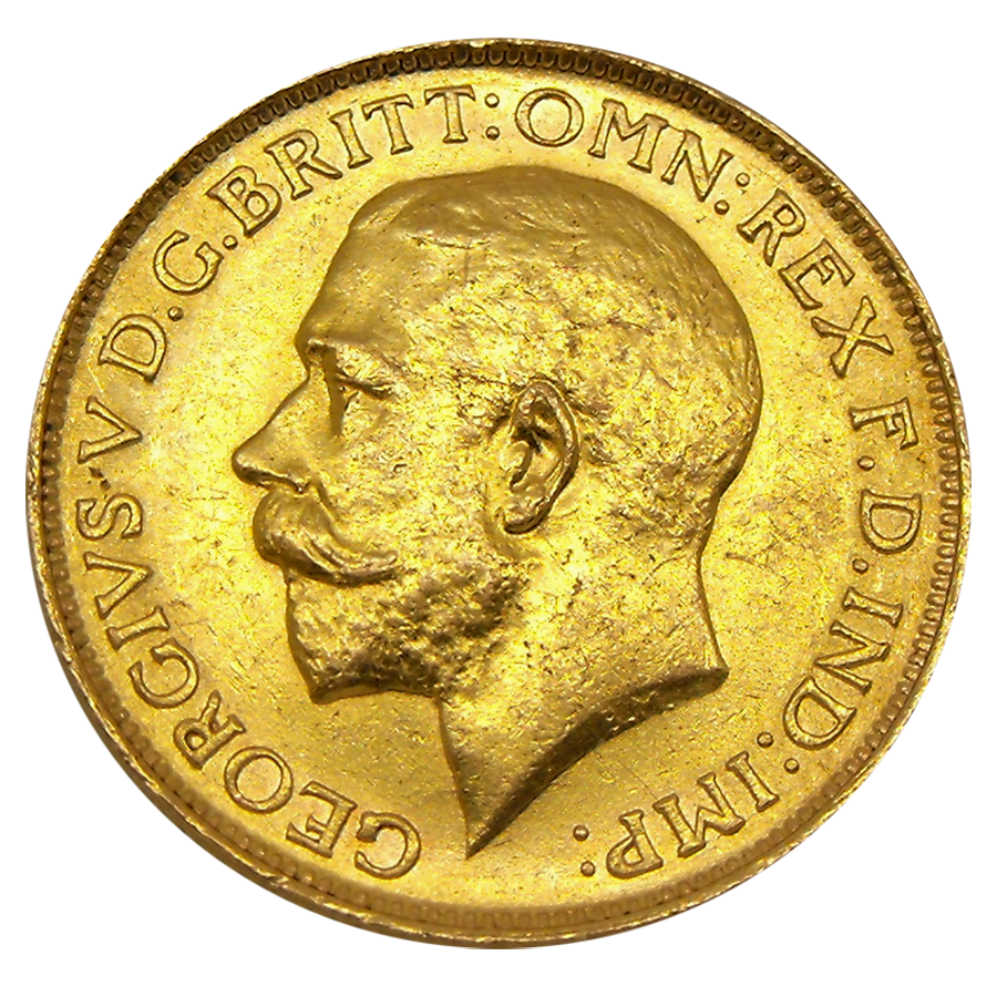 Pre-Owned 1915 London Mint George V Full Sovereign Gold Coin