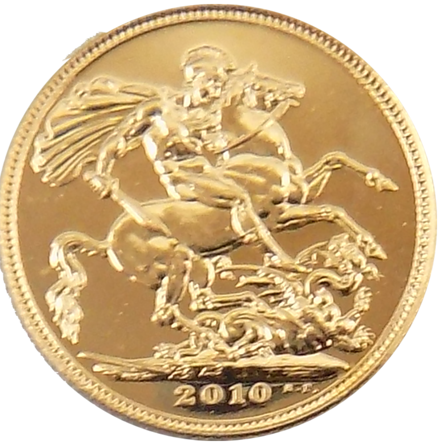 Pre-Owned 2010 UK Full Sovereign Gold Coin (Image 2)