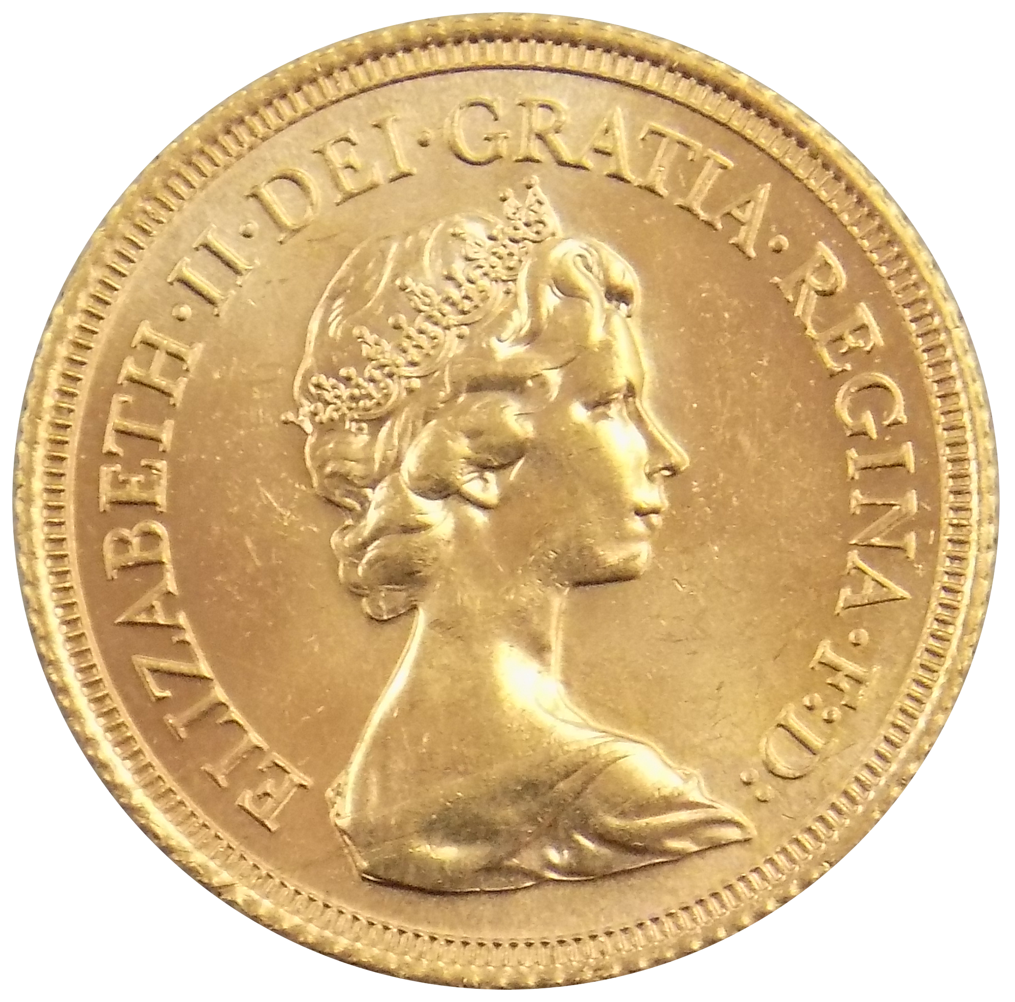 Pre-Owned 1978 UK Elizabeth II Full Sovereign Gold Coin