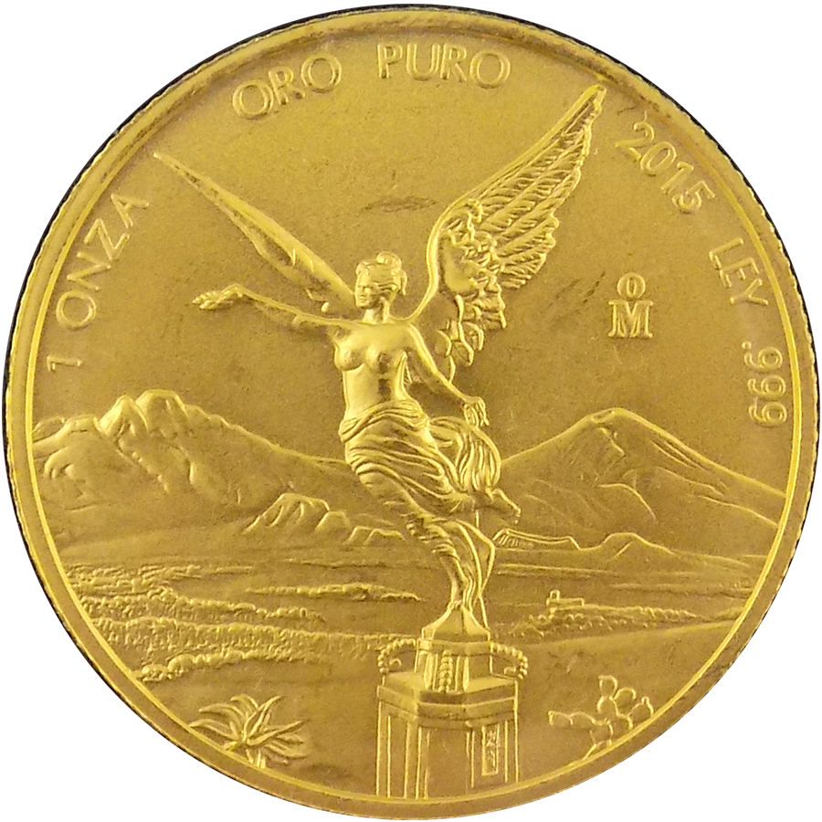 Pre Owned 2015 Mexican Libertad 1oz Gold Coin Free
