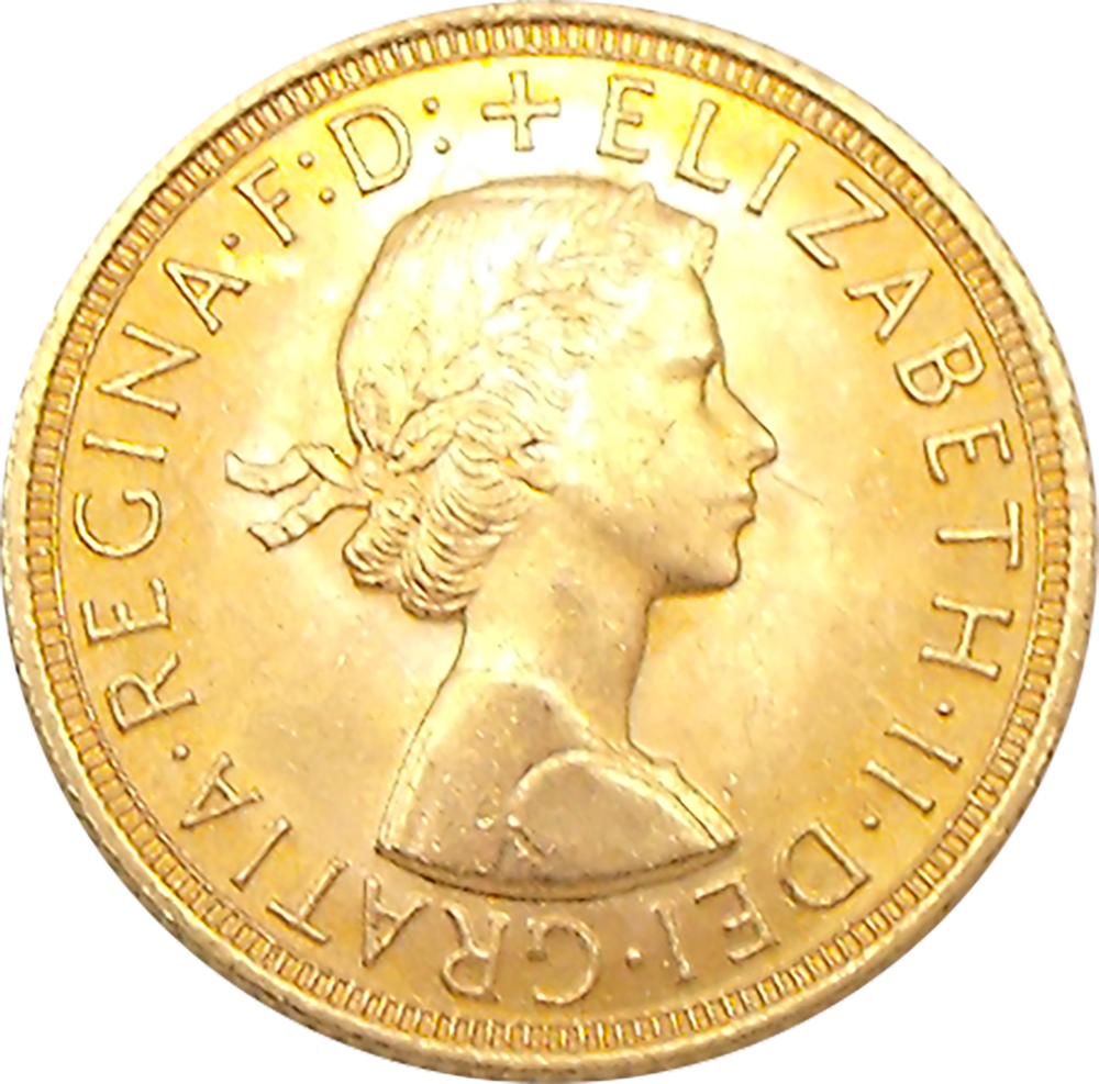 Pre-Owned 1962 UK Full Sovereign Gold Coin