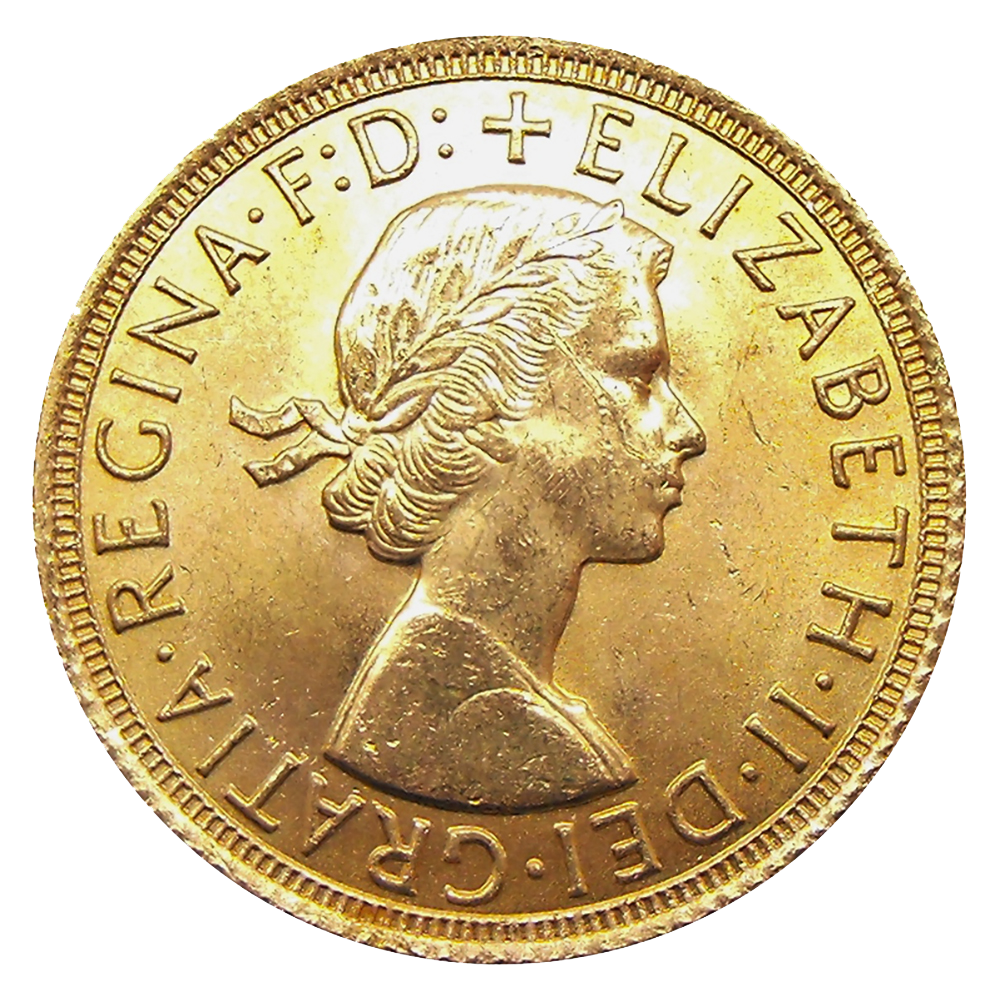 Pre-Owned 1964 UK Full Sovereign Gold Coin