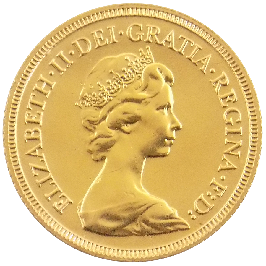 Pre-Owned 1982 UK Elizabeth II Full Sovereign Gold Coin (Image 1)