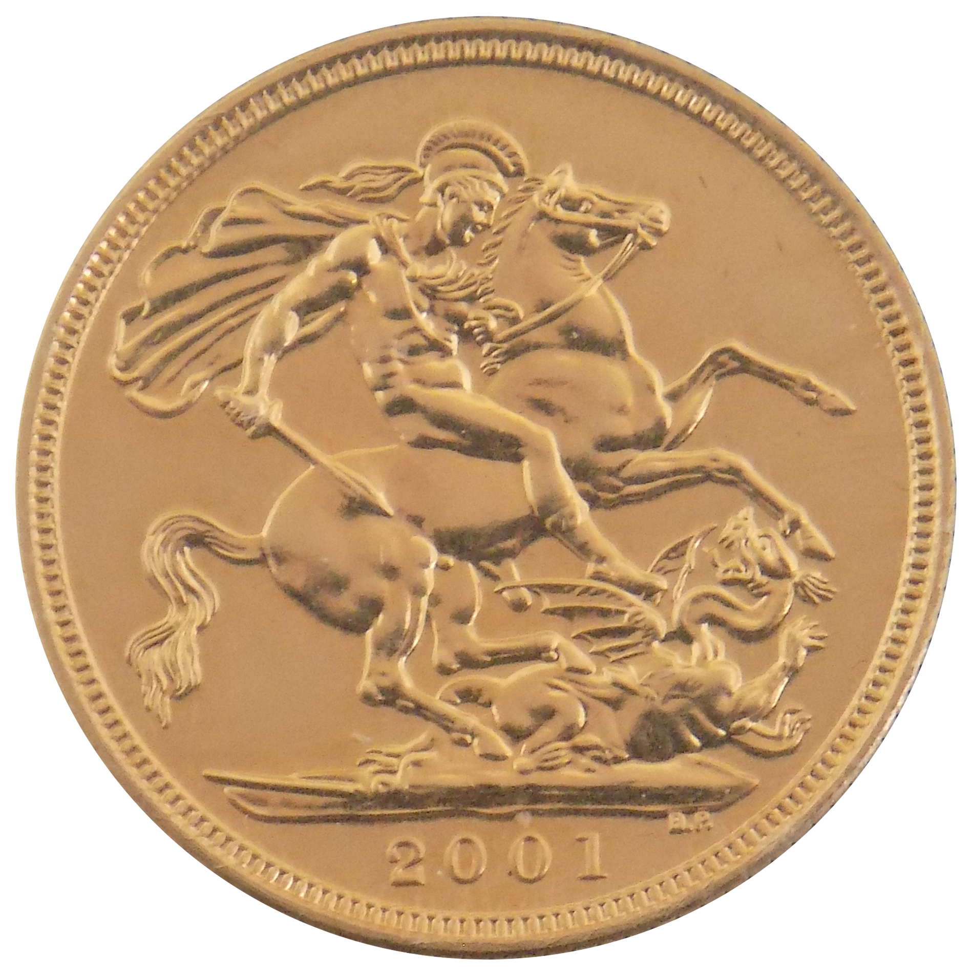 Pre-Owned 2001 UK Full Sovereign Gold Coin (Image 2)