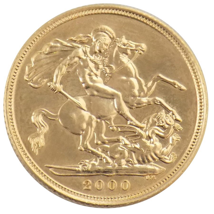 Pre-Owned 2000 UK 'Millennium' Full Sovereign Gold Coin (Image 2)