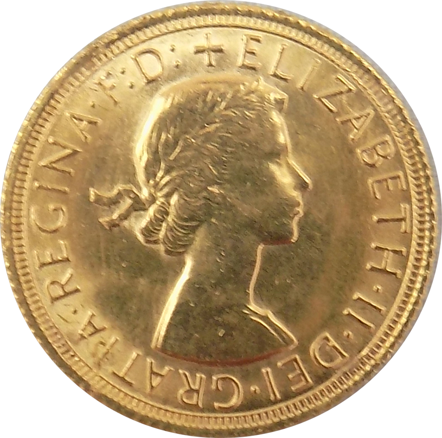 Pre-Owned 1967 UK Full Sovereign Gold Coin