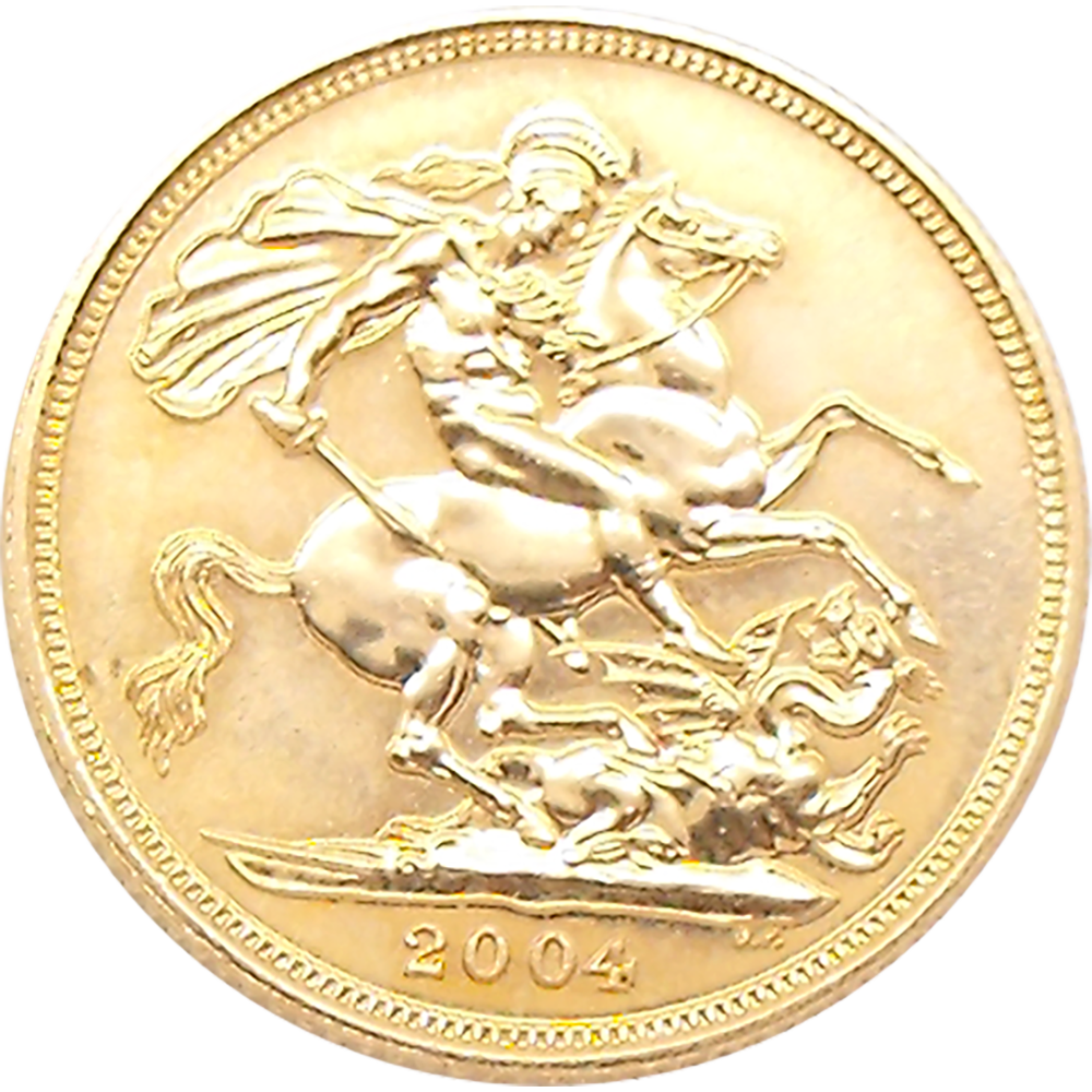 Pre-Owned 2004 UK Full Sovereign Gold Coin (Image 2)
