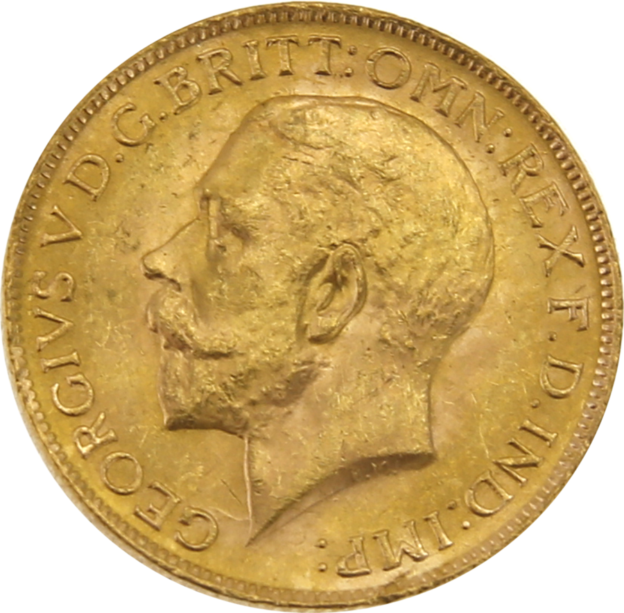 Pre-Owned 1927 South Africa Mint George V Full Sovereign Gold Coin (Image 2)