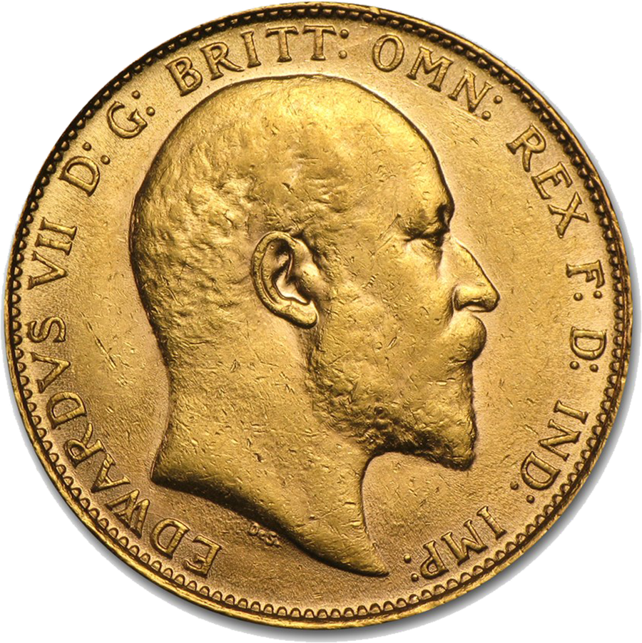 Pre-Owned 1906 Melbourne Mint Edward VII Full Sovereign Gold Coin