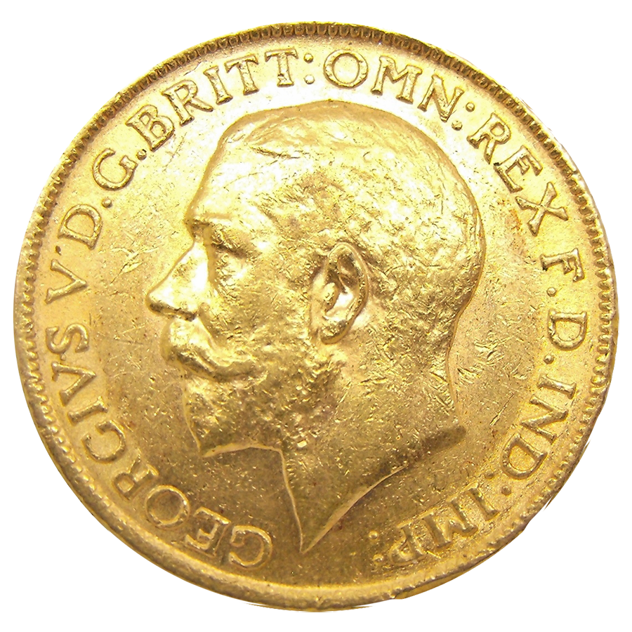 Pre-Owned 1911 Perth Mint George V Full Sovereign Gold Coin