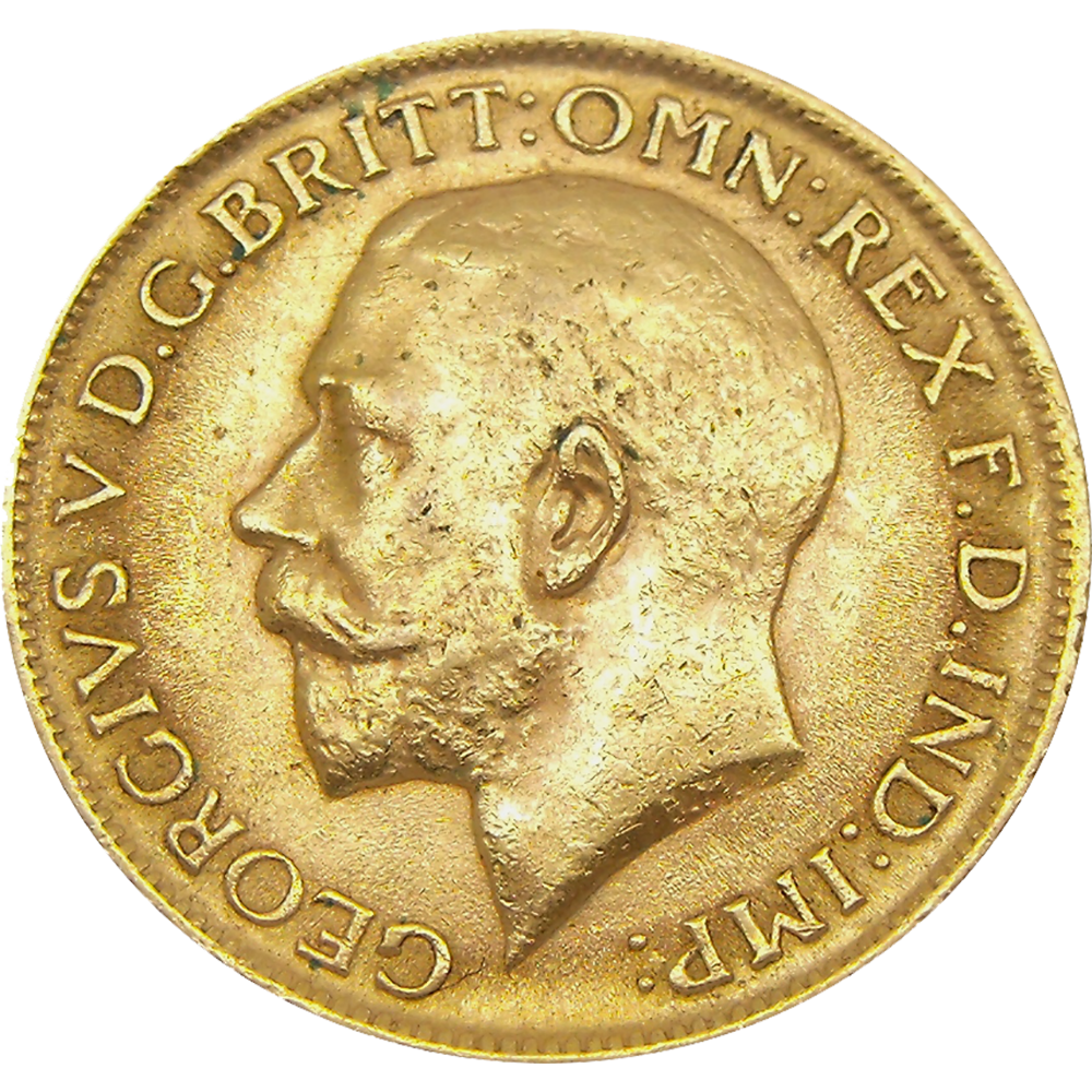 Pre-Owned 1913 Perth Mint George V Full Sovereign Gold Coin