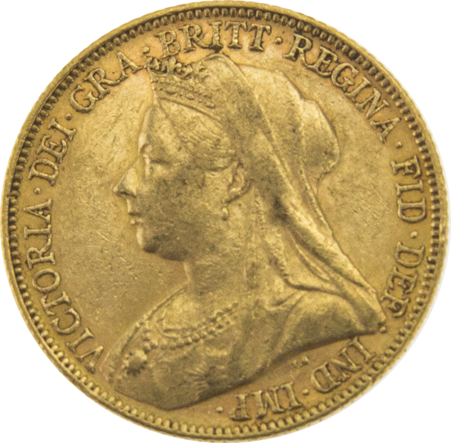 Pre-Owned 1898 Melbourne Mint Victoria 'Veiled Head' Full Sovereign Gold Coin