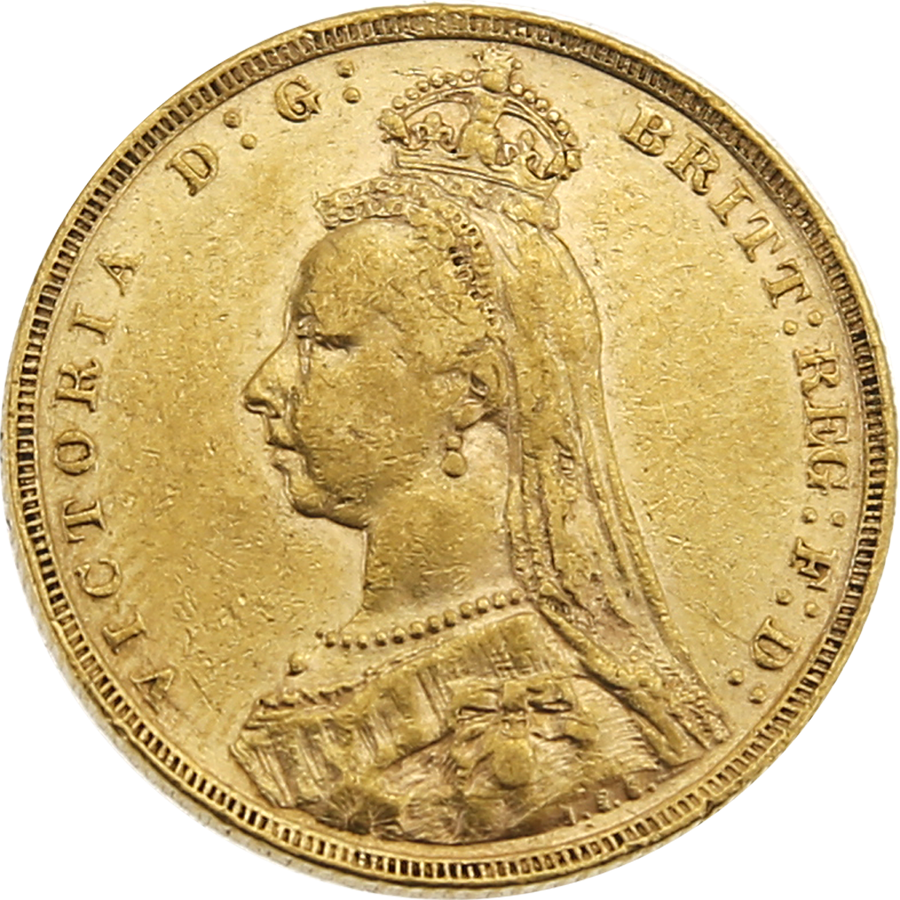 Pre-Owned 1891 London Mint Victoria Jubilee Head Full Sovereign Gold Coin