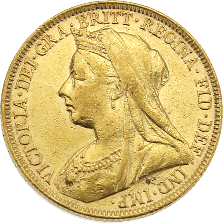 Pre-Owned 1898 UK Victoria Veiled Head Full Sovereign Gold Coin