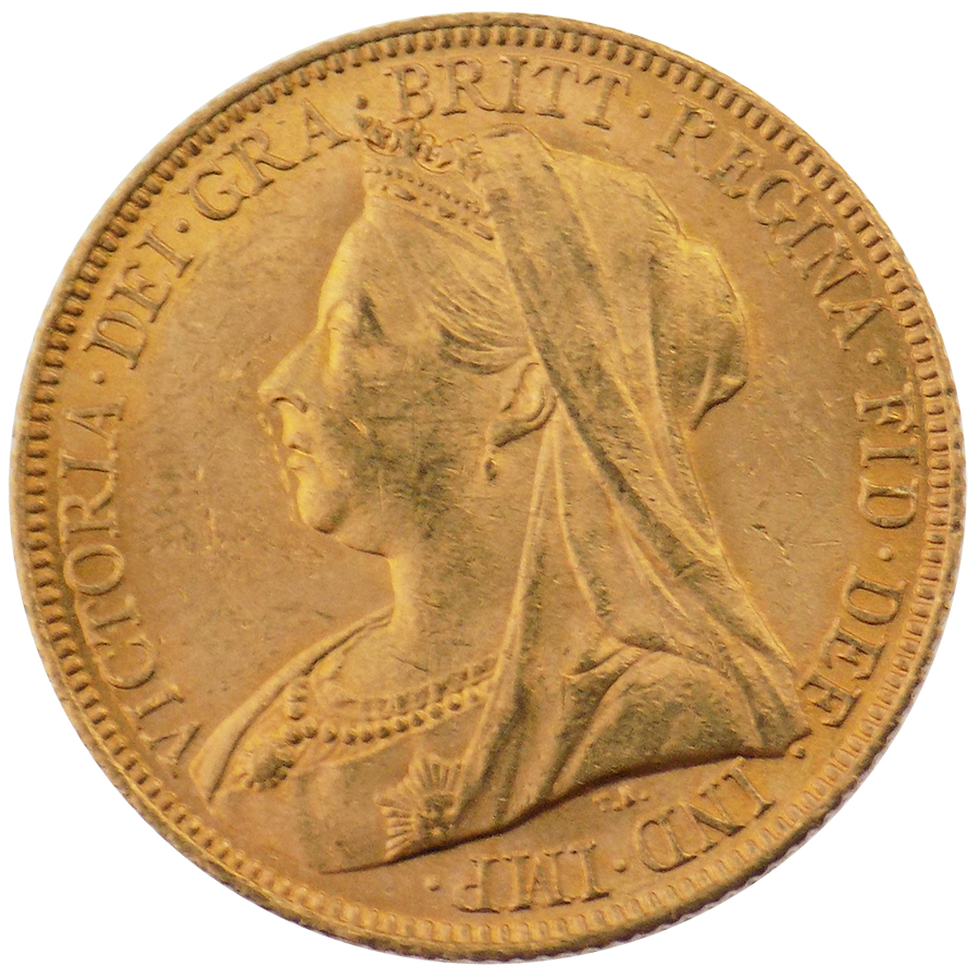 Pre-Owned 1899 Sydney Mint Victoria 'Veiled Head' Full Sovereign Gold Coin