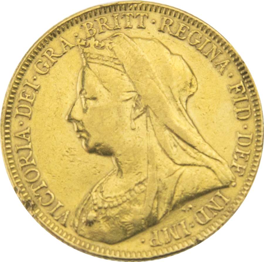 Pre-Owned 1894 UK Victoria Veiled Head Full Sovereign Gold Coin