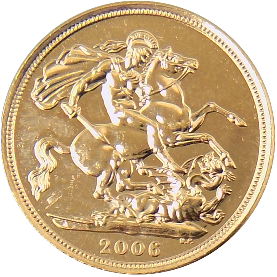 Pre-Owned 2006 UK Full Sovereign Gold Coin (Image 2)