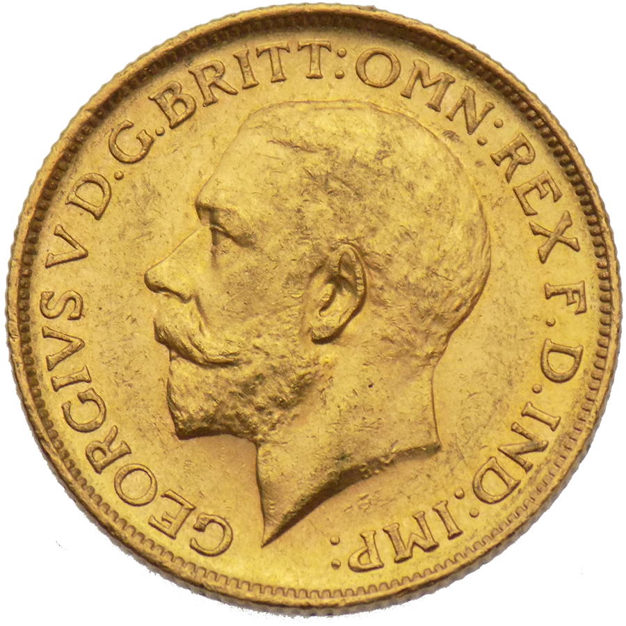 Pre-Owned 1911 Sydney Mint George V Full Sovereign Gold Coin