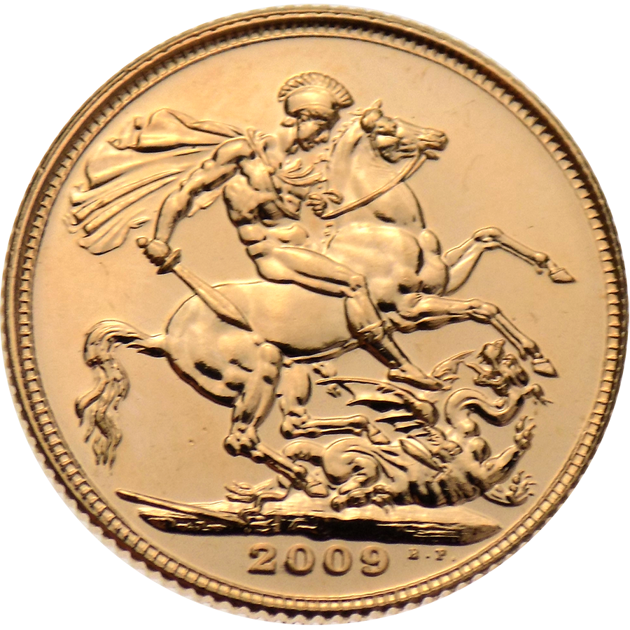 Pre-Owned 2009 UK Full Sovereign Gold Coin (Image 2)