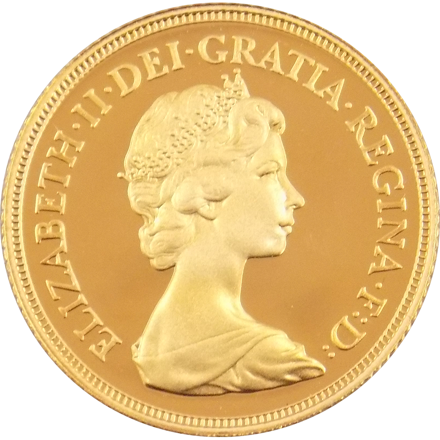 Pre-Owned 1981 UK Full Sovereign Proof Design Gold Coin