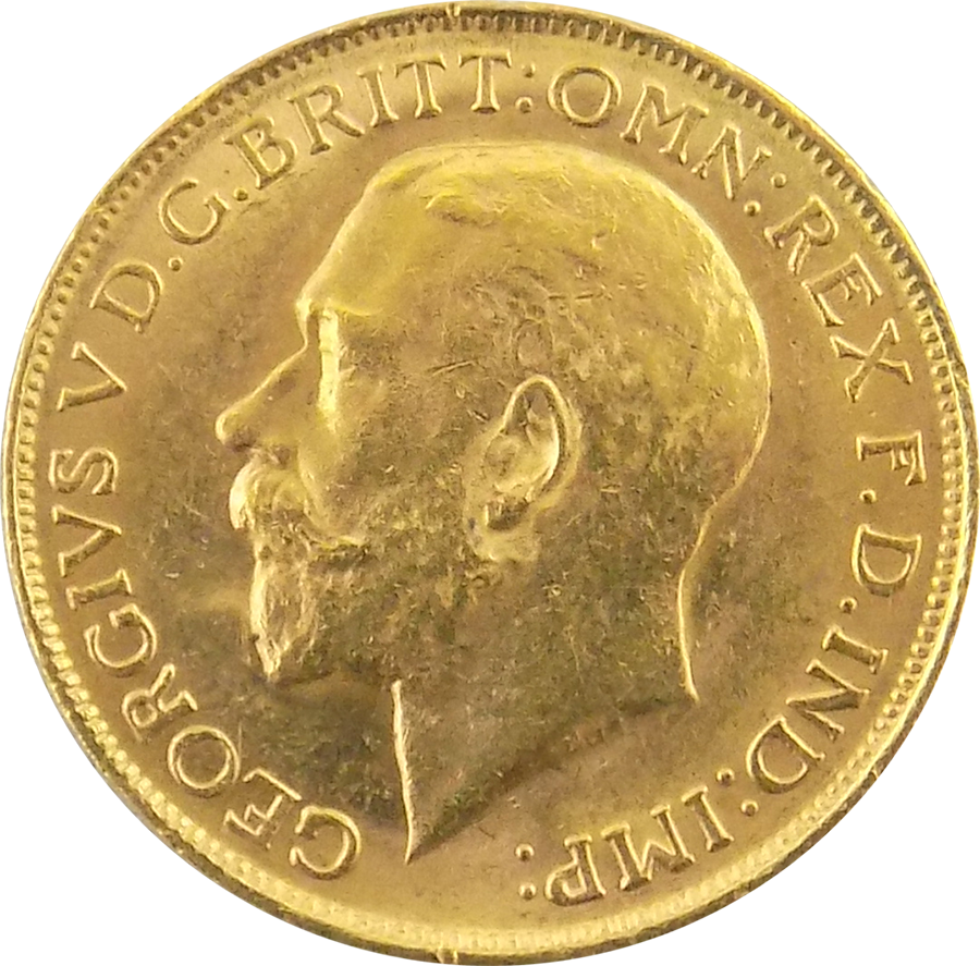 Pre-Owned 1919 Perth Mint George V Full Sovereign Gold Coin