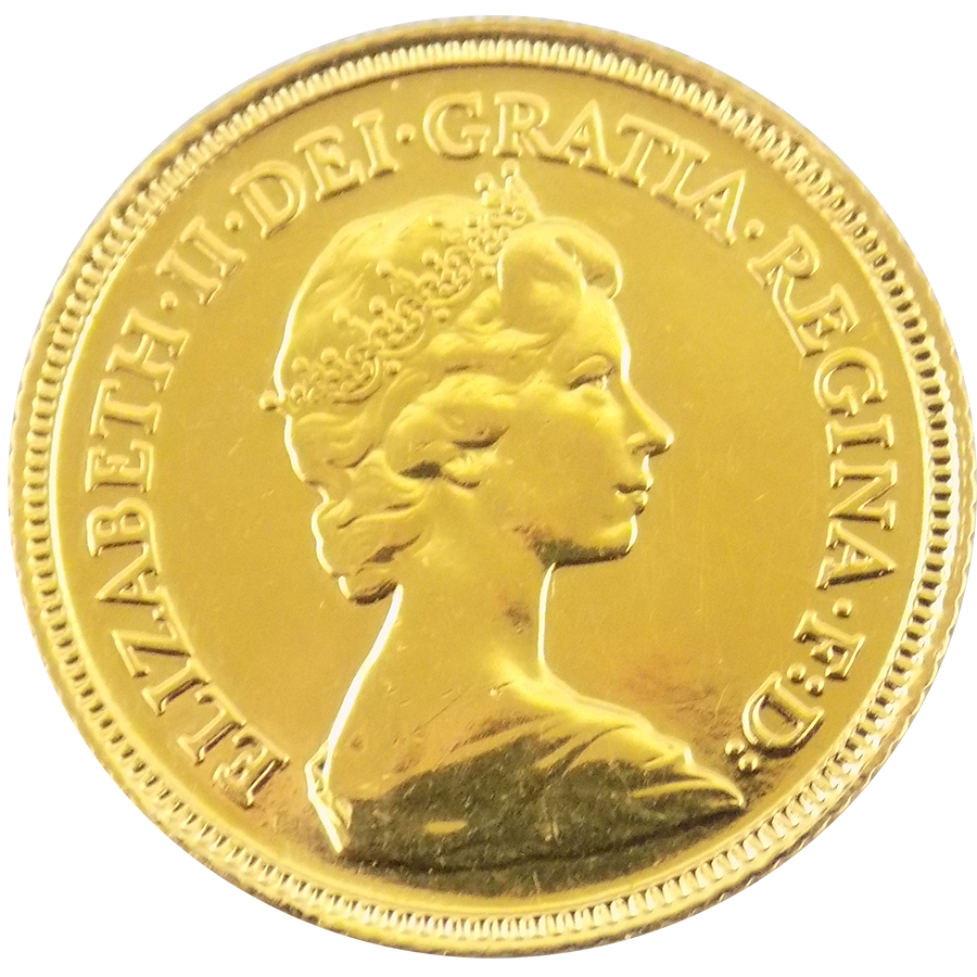 Pre Owned 1982 Uk Elizabeth Half Sovereign Gold Coin Image 1