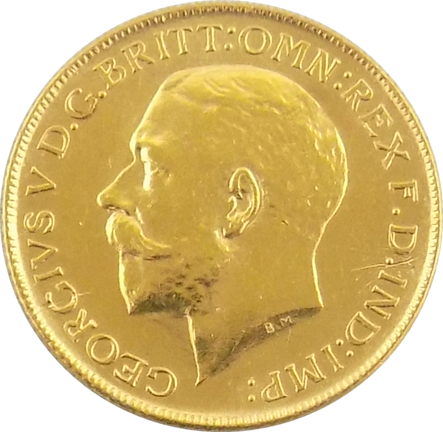 Pre-Owned 1923 Perth Mint George V Full Sovereign Gold Coin