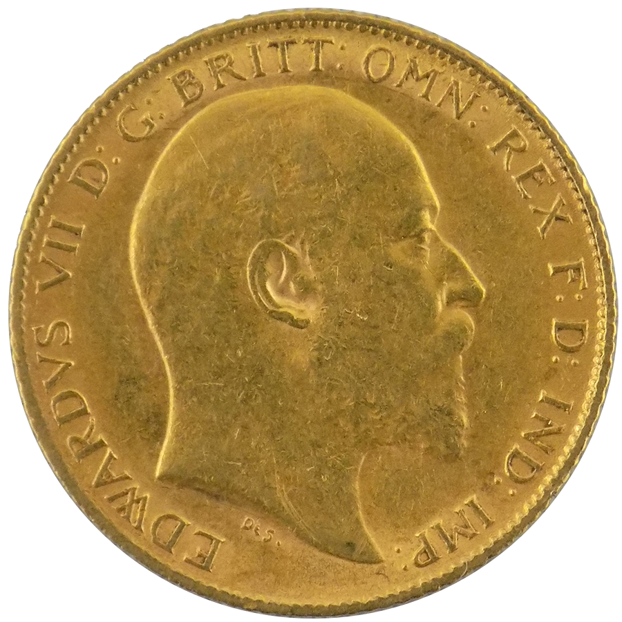 Pre-Owned 1905 UK Edward VII Half Sovereign Gold Coin