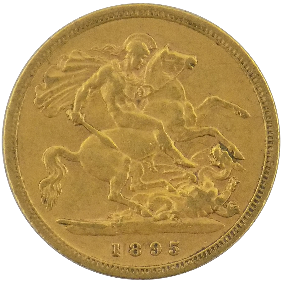 1895 Royal Mint Victoria Half Sovereign Gold Coin Atkinsons