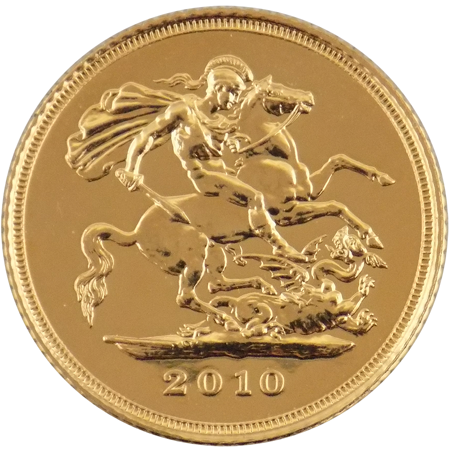 Pre Owned 2010 Qeii Half Sovereign Gold Coin Atkinsons
