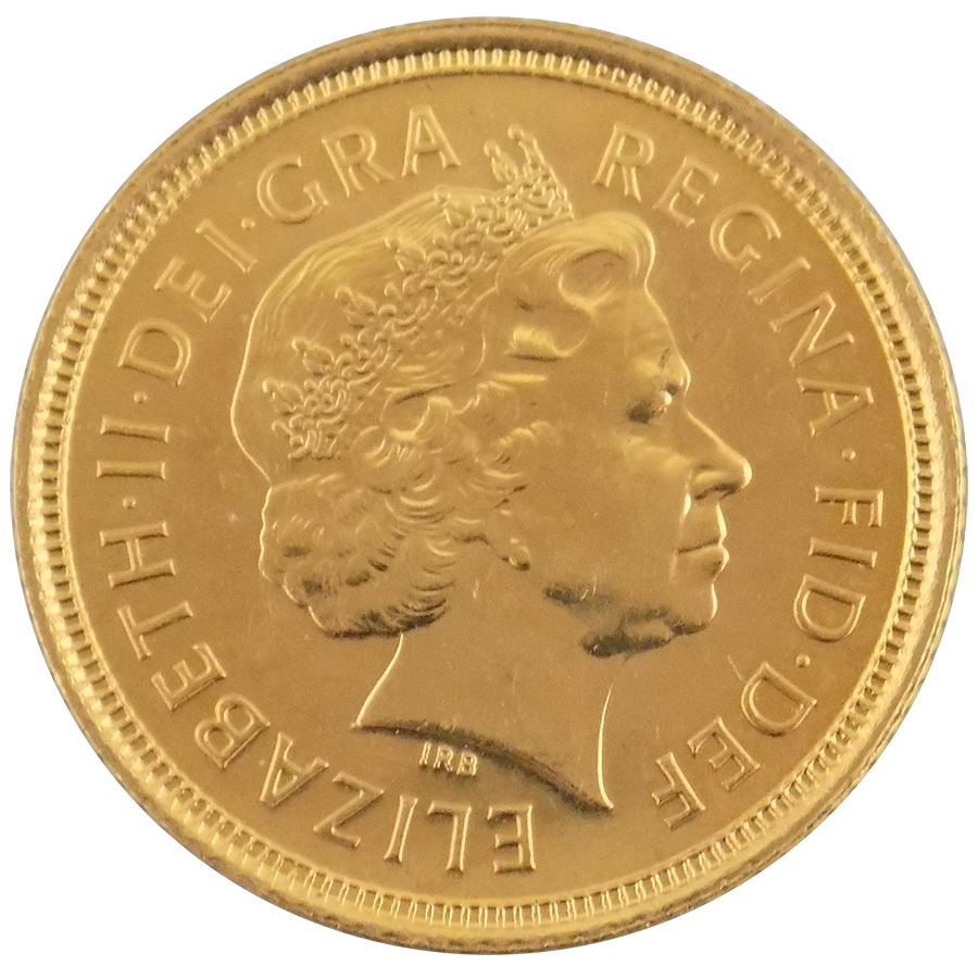 Pre-Owned 2003 UK QEII Half Sovereign Gold Coin