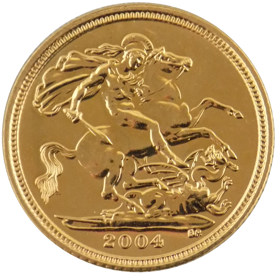 Pre-Owned 2004 UK QEII Half Sovereign Gold Coin (Image 2)