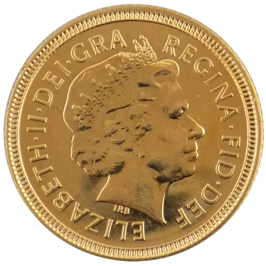 Pre-Owned 2000 UK Elizabeth II Half Sovereign Gold Coin