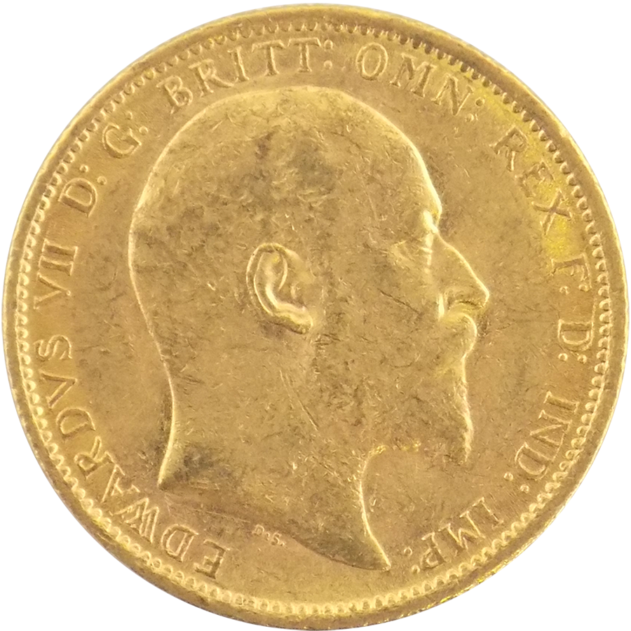 Pre-Owned 1904 Sydney Mint Edward VII Full Sovereign Gold Coin